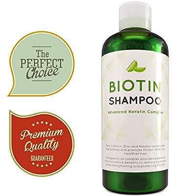 Hair Loss Shampoo for Men and Women - DHT Blocker - Biotin for Hair Growth and Regrowth Treatment - Thicker Fuller Hair Revitalizing Shampoo - Improve Circulation Scalp - Dandruff Shampoo Sulfate Free
