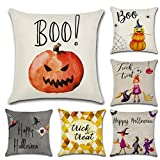 Decorative Pillow Cover - Halloween Pillow Covers, Gotd Halloween Decorations Cute Pumpkin Decorative Vintage Cotton Linen Throw Pillow Case Cushion 43 x 43cm (Multicolor A)