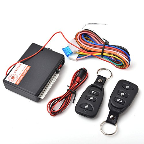 CISNO Universal Car Door Lock Locking Vehicle Keyless Entry System Remote Central Kit with 2 Remote Controllers (Keyless Car Door Lock compare prices)