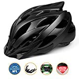 Cheap Basecamp Bike Helmet, Cycling Helmet with CPSC Safety Certified/LED Safety Light/Removable Visor/Flow Vents-Safety and Comfortable for Adult Men/Women/Youth Mountain&Road