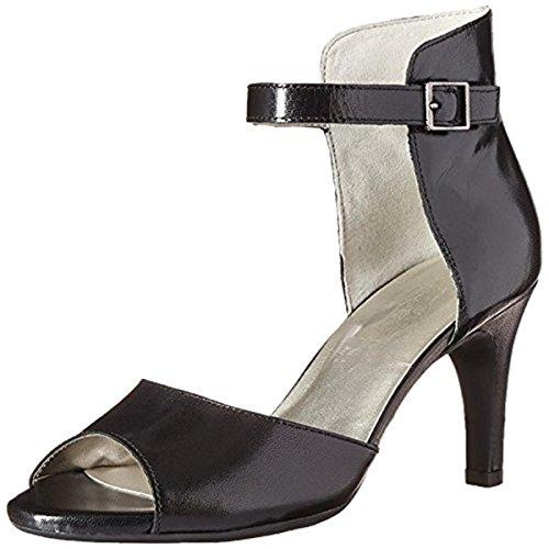 Aerosoles Women's Flamboyant Dress Sandal, Black Leather, 6 M US