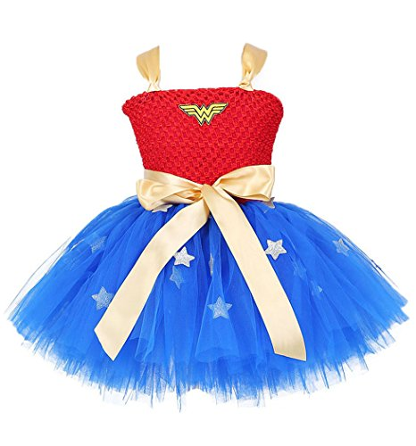 Tutu Dreams Halloween Hero Costumes for Girls (8, (Wonder Woman With Tutu)