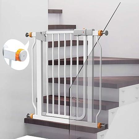ERRU Barrera Seguridad Barandilla De La Puerta/Escaleras para Bebé Súper Ancha - Puerta De Cierre Automático De Seguridad para Mascotas, Puertas Montadas A Presión: Amazon.es: Hogar