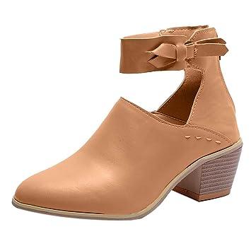 LILICAT❋ Casual Zapatos de tacón Grueso con Cremallera Superficial, Zapatos de Cremallera para Mujer de Moda Boca Baja Zapatos Individuales Zapatos de ...