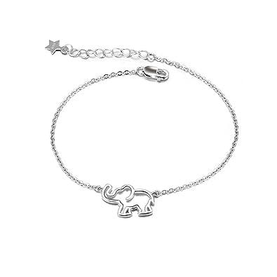 Elephant Bracelet Sterling Silver Lucky Elephant Chain Link Adjustable  Bracelets for Women Girls  Amazon.co.uk  Jewellery 88107e31df0