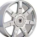 22x9 Wheel Fit GM Trucks & SUVs - Cadillac Escalade Style Chrome Rim, Hollander 5309