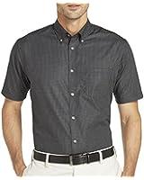 Van Heusen Short-Sleeve No-Iron Button-Front Shirt - Black