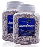Deep Blue 2 Pack of 35 OZ Ammonia Reducer Laboratory Grade Zeolite for Freshwater and Marine Aquariums