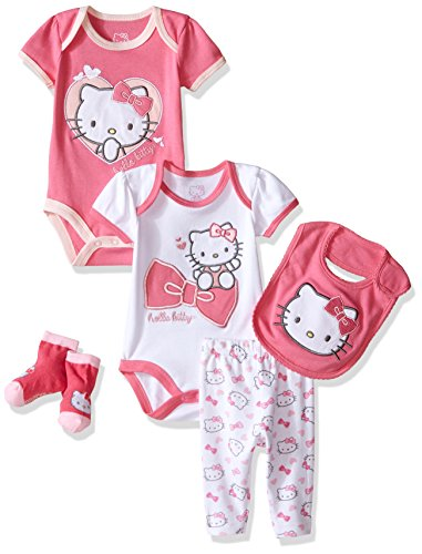 Hello Kitty Baby Girls' Baby Gift Set, Pink Carnation, 6-9 Months