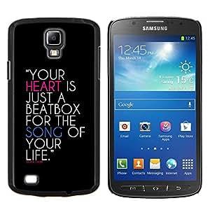 TECHCASE---Cubierta de la caja de protección para la piel dura ** Samsung Galaxy S4 Active i9295 ** --Su corazón es un cuadro de golpe