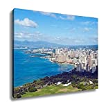 Ashley Canvas, View Of Waikiki Beach In Honolulu Hawaii, Home Decoration Office, Ready to Hang, 20x25, AG6402391