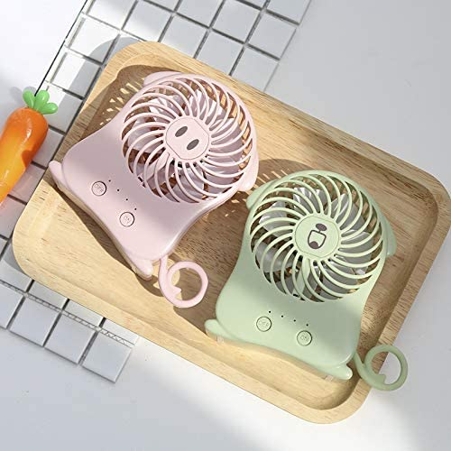 KELER Portable Mini Fan Handheld USB Fan Foldable Personal Fans Electric Desktop Fan Rechargeable Battery Powered Fan
