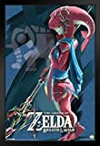 Pyramid America Legend of Zelda Breath of The Wild Vah Ruta Video Gaming Framed Poster 14x20 inch