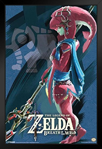 Pyramid America Legend of Zelda Breath of The Wild Vah Ruta Video Game Gaming Framed Poster 14x20 inch (League Of Zelda Breath Of The Wild)