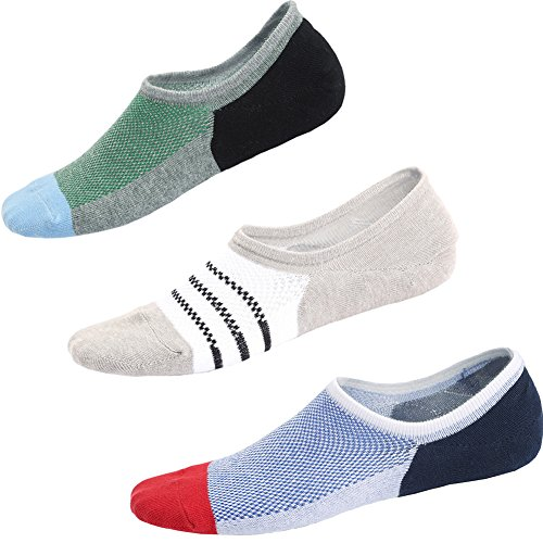 Cotton Striped Sport Socks - No Show Socks Women Cotton Footies Sports Socks Low Cut Liner Non Slip Socks 3 Pairs