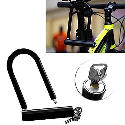 U Lock Bike Bicycle Motorcycle Cycling Scooter Security Steel Chain + 2 Keys