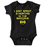 9 Month Batman Shirt | Lego Batcave Funny Gift Idea Hero Baby Romper Bodysuit