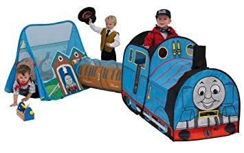 Thomas and Friends 3 in 1 Train Set Pop-up Tent  sc 1 st  Amazon UK & Thomas and Friends 3 in 1 Train Set Pop-up Tent: Amazon.co.uk ...