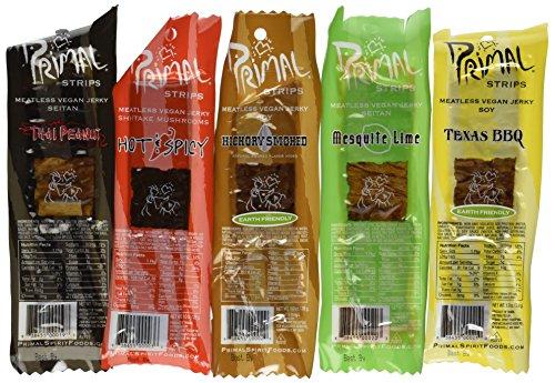 Primal Strips Meatless Vegan Jerky-Variety Gift Pack Sampler, 12 Assorted 1