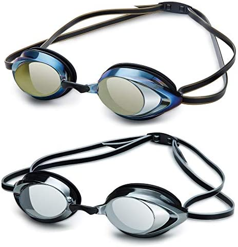 Mieny Mirrored Vanquisher 3.0 Swim Goggles,Goggles Swimming, Panoramic Swim Goggles, for Adult Men Women Youth