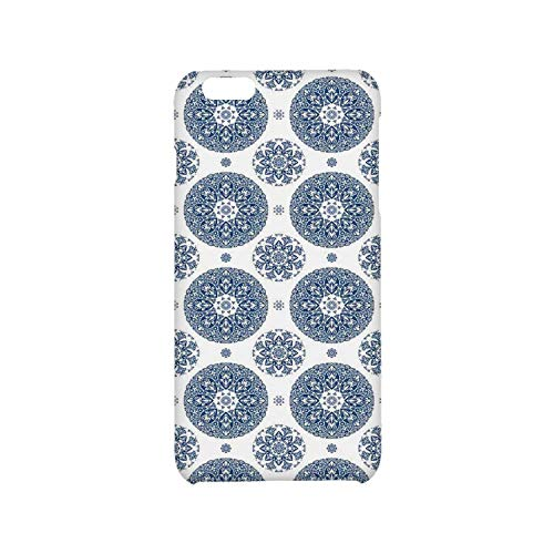 Vintage Utility Phone Case,French Country Style Floral Circular Pattern Lace Ornamental Snowflake Design Print Compatible with iPhone 6 plus/6s Plus