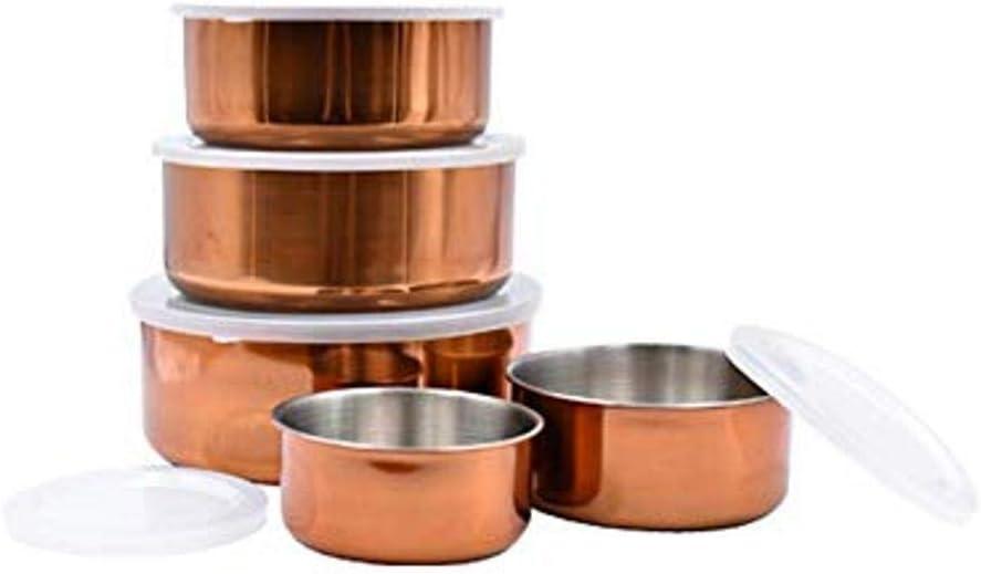 Le Regalo Copper 10-Piece Storage Bowl Set, Multiple