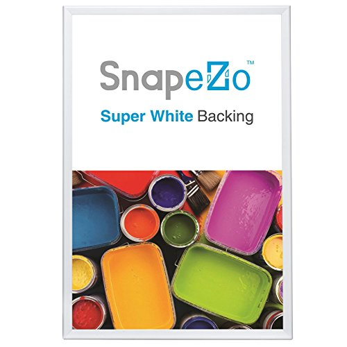 White Poster Frames 36x48 Inches, 1.7' SnapeZo Profile, Front Loading Snap Display, Wall Mounted, Professional Series