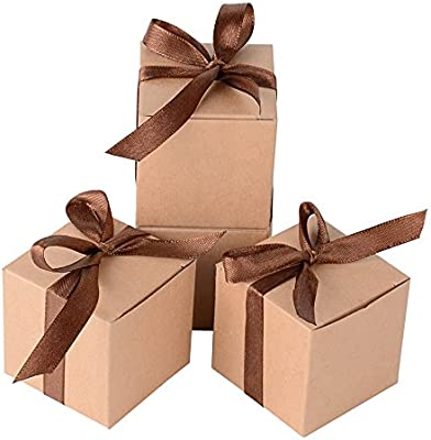 100 x Cajas de Caramelo Dulce Bombones para Bautizo Boda 5 * 5 ...