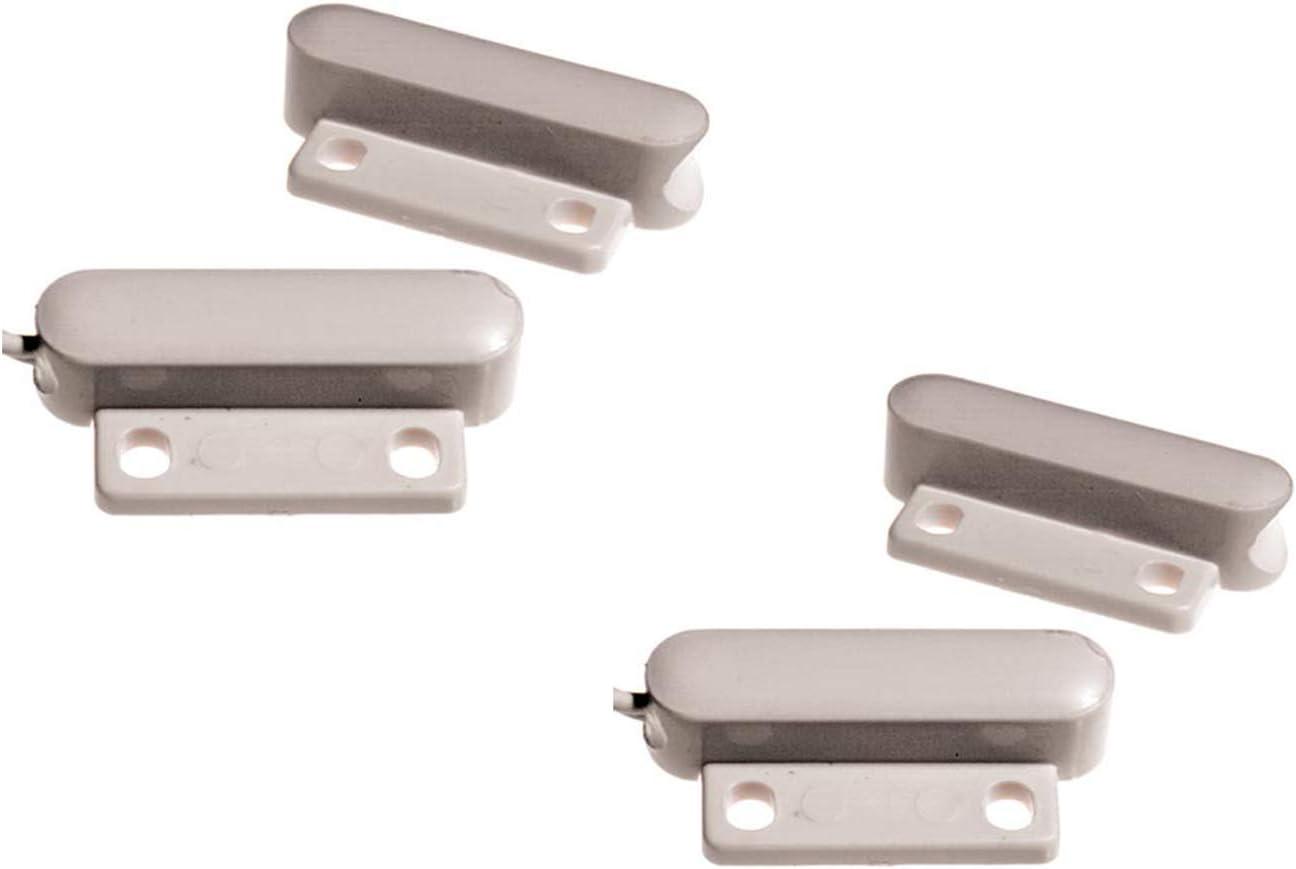 Juego de 2 mini contactos magnéticos para ventanas y puertas, 3,4 x 1,5 x 0,8 cm, protección antirrobos: Amazon.es: Iluminación