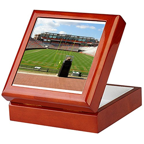 CafePress - Death Valley Clemson, SC and Howards Rock Keepsake - Keepsake Box, Finished Hardwood Jewelry Box, Velvet Lined Memento Box