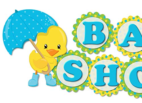 Rubber Ducky Duck Umbrella Baby Shower Banner Party Decoration Supplies -