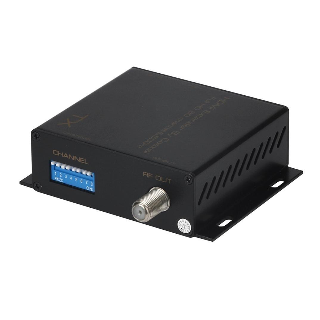 HDMI Modulator Convert,Aurorax HDMI TO DVB-T Modulator Convert HDMI signal to HD digital TV (Black)