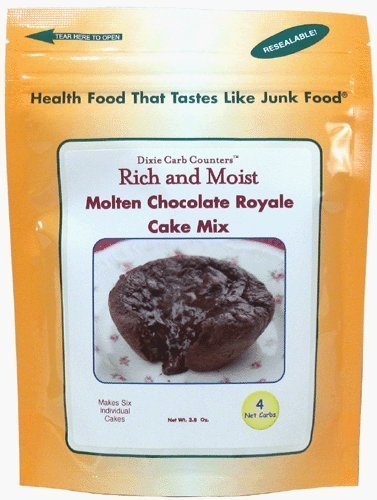 - Dixie Carb Counters Molten Chocolate Royale Cake Mix - 3.8 oz