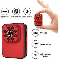 MILALOKO Mini Camera Small Camera 1080P HD 32GB Portable Sports Camera with IR Night Vision,Digital Video Photos Supports Motion Detection, Nanny Cam