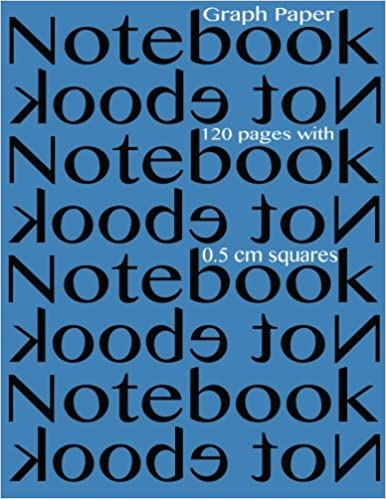 graph paper notebook 0 5 centimeter squares 120 pages notebook not