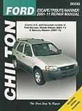 Chilton's Ford Escape/ Tribute/ Mariner 2001-11 Repair Manual: Covers All U.s. and Canadian Models of Ford Escape, Mazda Tribute (2001-11) & Mercury ... (2005-11) (Chilton Automotive Repair Manuals)