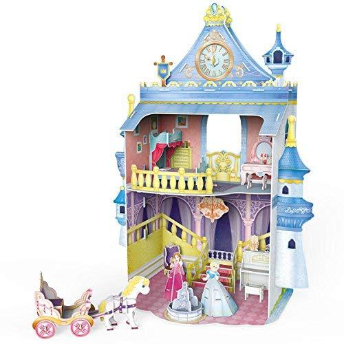 CubicFun Dollhouse 3D Puzzle DIY Kit Toys with Furniture,Fairytale Castle