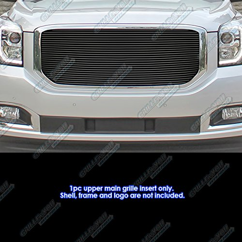 APS Compatible with 2015-2020 GMC Yukon Denali Black Main Upper Billet Grille Grill Insert S18-H82368G