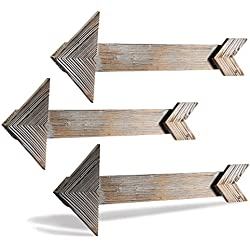 CALIFORNIA CADE ELECTRONIC Rustic Wall Decor-Farmhouse Decor-Home Decor Arrow Barnwood Decorative Arrows Barn Wood Decorative Signs-Decoration for Room or Wedding(3, 5.9 x 17.5 inches)