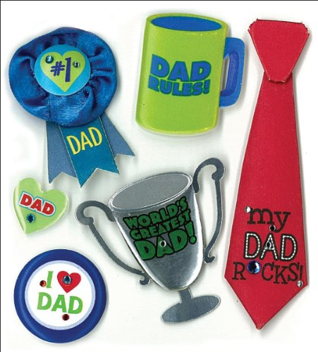 Jolee's Boutique Dimensional Stickers, Number 1 Dad