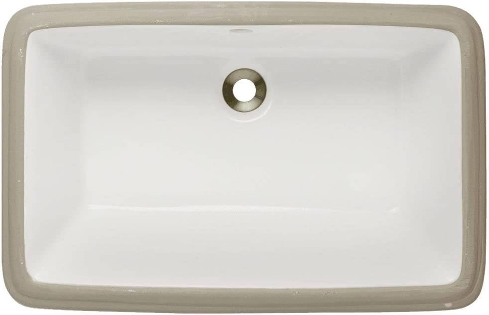 U1812-Bisque Undermount Porcelain Bathroom Sink, Sink Only