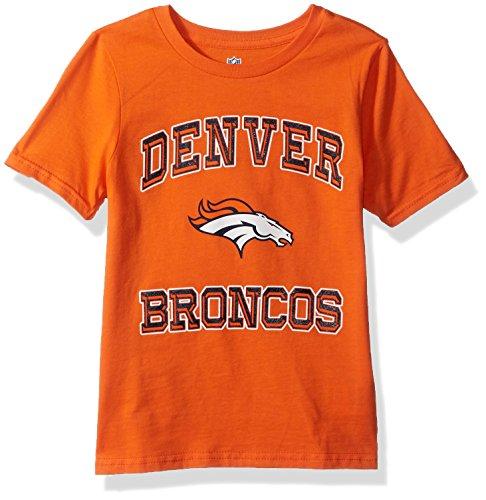 - Outerstuff NFL Youth Boys Gridiron Hero Short Sleeve Tee-Orange-XL(18), Denver Broncos