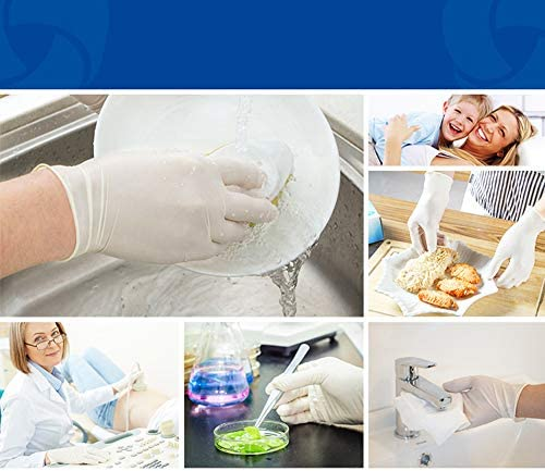 使い捨て ラテックス手袋 100個入り 防疫防護 エコノミータイプ パウダーフリー (L(掌回り200mm))