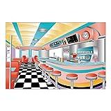 3pc set Rockin' 50s Sock Hop Grease Photo Prop Mural Starlite Drive In BACKDROP
