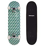 Retrospec Alameda Skateboard Complete with Abec-11 & Canadian Maple Deck, Marine Isometric