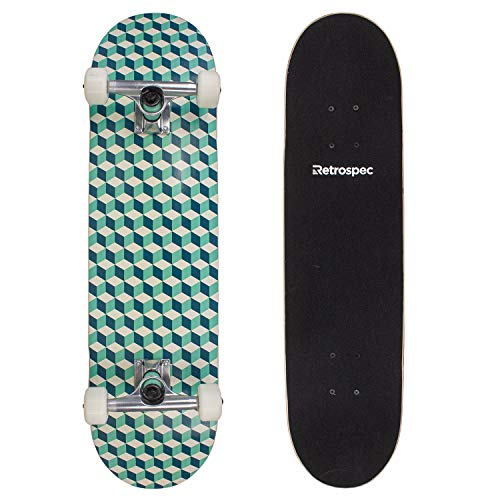 Retrospec Alameda Skateboard Complete with Abec-11 & Canadian Maple Deck, Marine Isometric ()