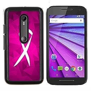 Stuss Case / Funda Carcasa protectora - Lucha Soporte púrpura rosada Caridad - Motorola MOTO G3 / Moto G (3nd Generation)
