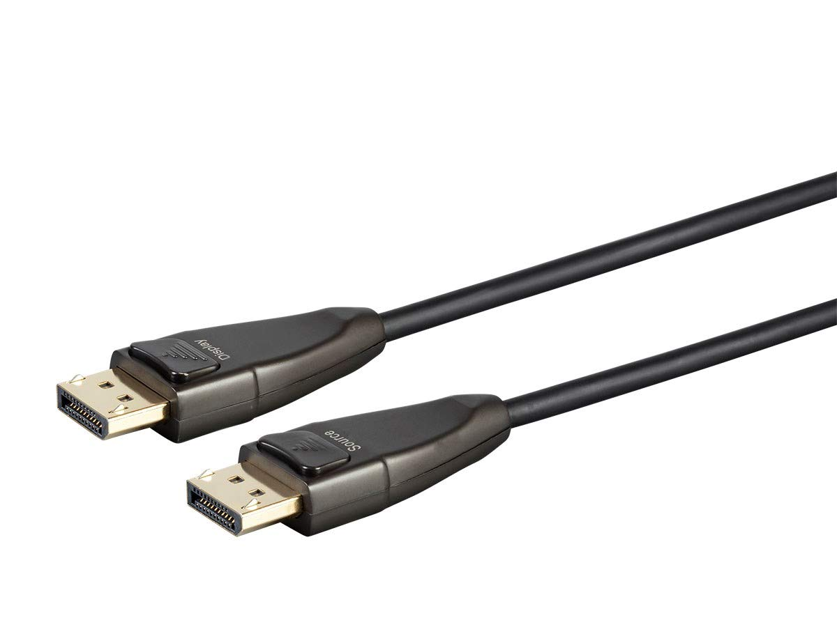 Monoprice DisplayPort Cable - 150 feet | 32.4Gbps, 8K@30Hz, 5K@60Hz, 4K@120Hz, Fiber Optic, AOC - SlimRun AV Series