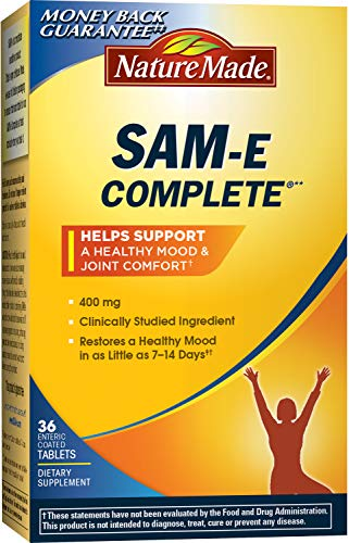 Nature Made SAM-e Complete 400 mg. Tablet (Helps support Healthy Mood & Joint Comfort) Value Size 36 ct Review