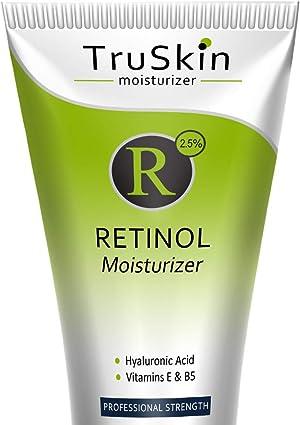 TruSkin Retinol Cream Anti-Wrinkle Moisturizer for Face Care and Eye Area with Hyaluronic Acid, Green Tea, 4 fl oz